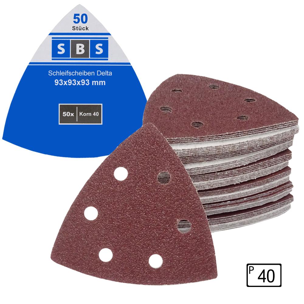 25 Blatt Schleifscheiben Delta Schleifdreiecke 93 mm Klett haftend Schleifpapier