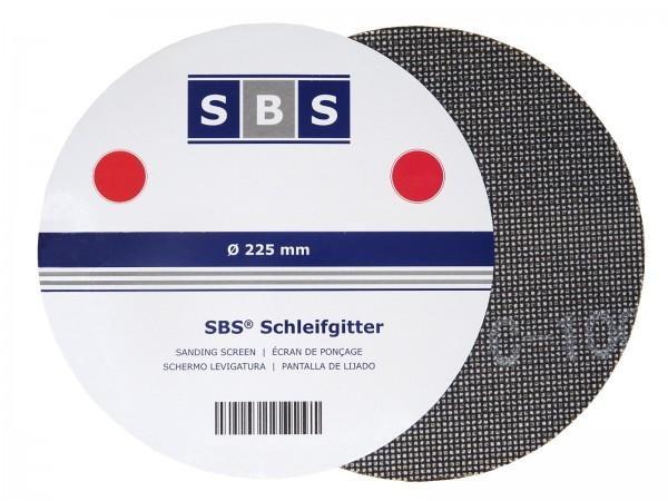 SBS® Klett Schleifgitter Ø 225mm für Langhalsschleifer