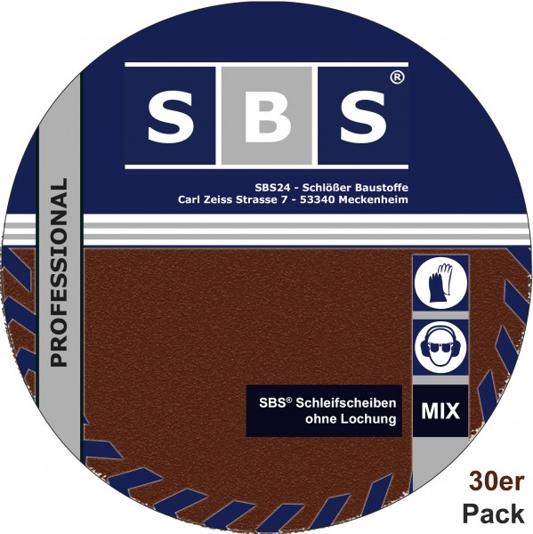SBS® Schleifscheiben 30 Stk Ø 225mm Mix - Pack