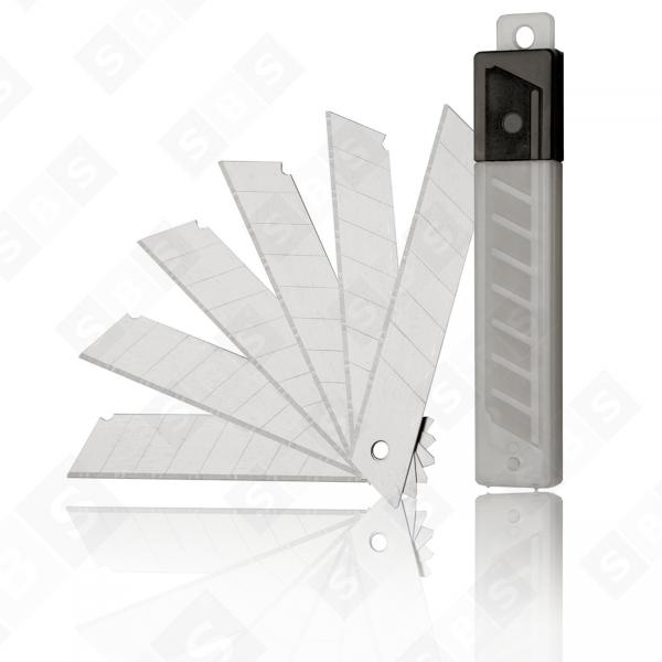 SBS® Abbrechklingen Cutterklingen 18 mm 0,5mm stark für Cuttermesser