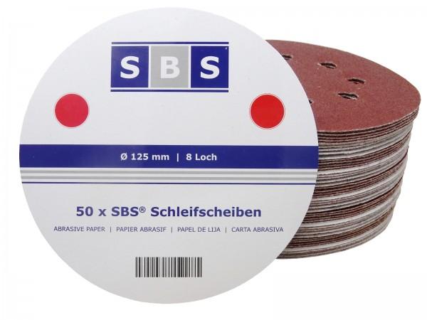 SBS® Klett-Schleifscheiben Ø 125mm 8 Loch Exzenter Korn 40 - 240