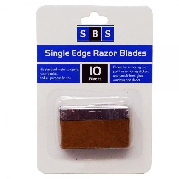 SBS® Schaber Ersatzklingen 10 Stück im Blister 40 x 20mm