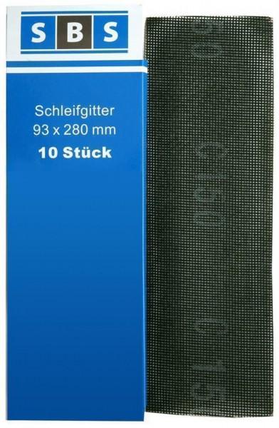 SBS® Gitterleinen 93x280 mm Schleifgitter Korn 60/80/100/120/150/180/240