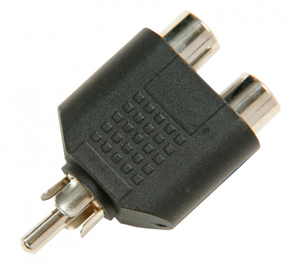 SBS Chinch Y-Adapter 1 x male to 2 x female