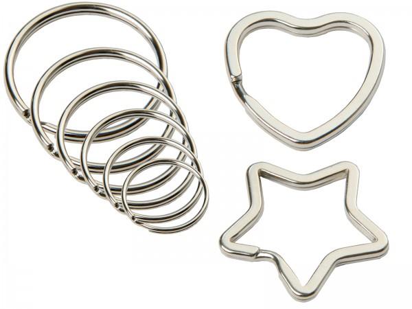 SBS® Schlüssel-Ring, -Herz, -Stern Ø 12 / 15 / 16 / 18 / 20 / 25 / 30 / 35mm
