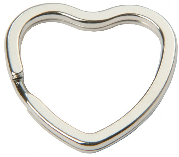 SBS® Schlüsselring Herzform Herz Schlüssel Ringe Anhänger 10-50 Stück