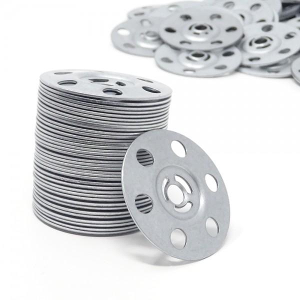 SBS® Dämmstoffteller ø 36mm Metall Dübelteller Dämmstoffhalter 100/200/400x