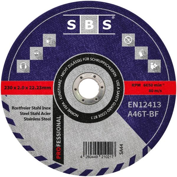 SBS® Trennscheiben Ø 230 x 2mm für Metall und Edelstahl