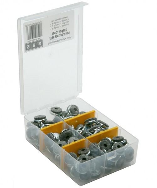 Filzgleiter Möbelgleiter Sortiment SBS® zum Schrauben 90 tlg. 20mm, 22mm, 24 mm