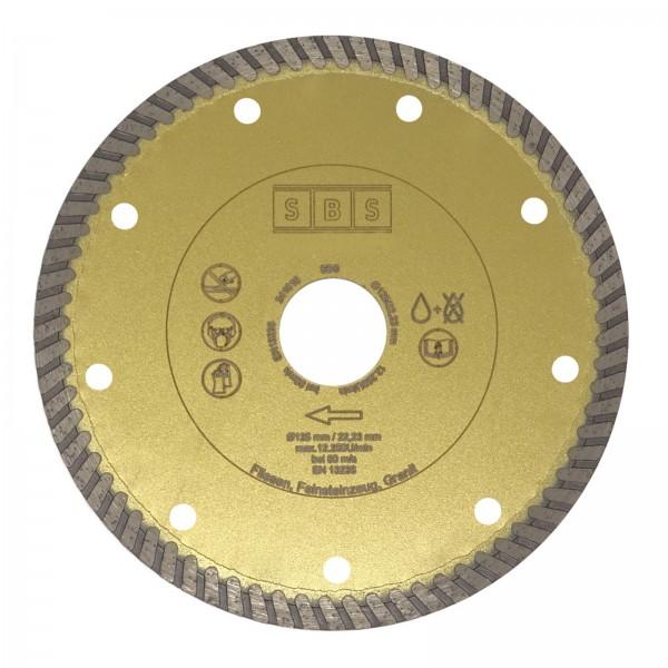SBS® Diamanttrennscheibe ø 125 mm Gold für Fliesen Marmor Granit Feinsteinzeug