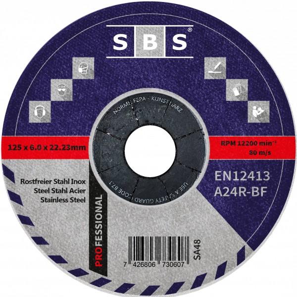 SBS® Schruppscheiben Ø 125 x 6mm für Metall und Edelstahl