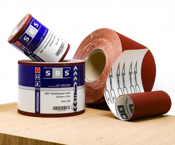 SBS® Schleifpapier Rolle 115mm x 25m Korn 40-240