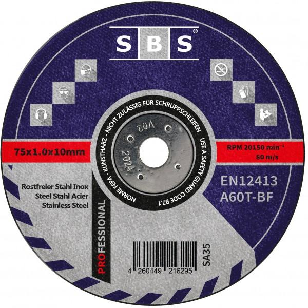 SBS® Trennscheiben Ø 75 x 1mm für Metall und Edelstahl