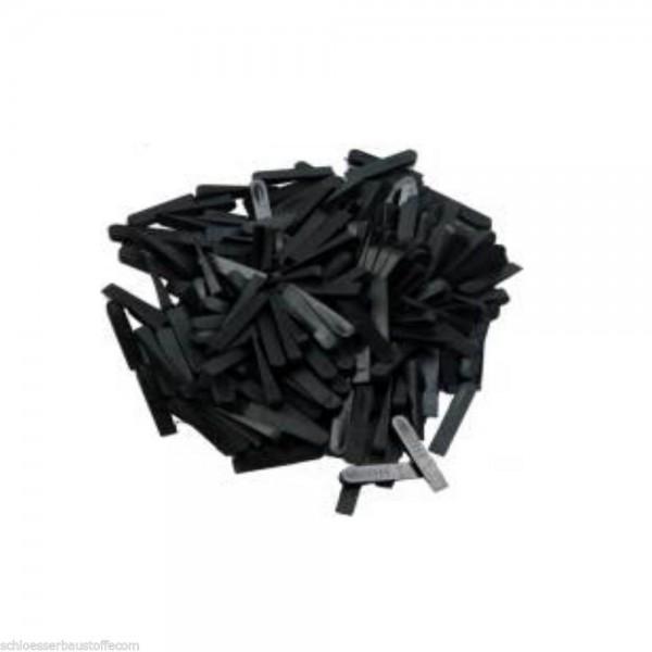 SBS® Fliesenkeile 500 Stück Kunststoff schwarz
