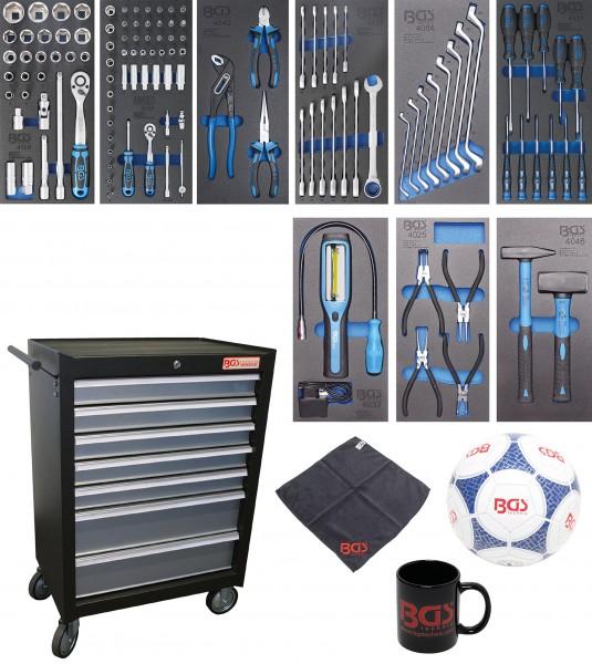 BGS 4061 Werkstattwagen | 7 Schubladen | mit 120 Werkzeugen
