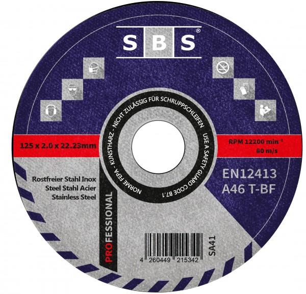 SBS® Trennscheiben Ø 125 x 2mm für Metall und Edelstahl