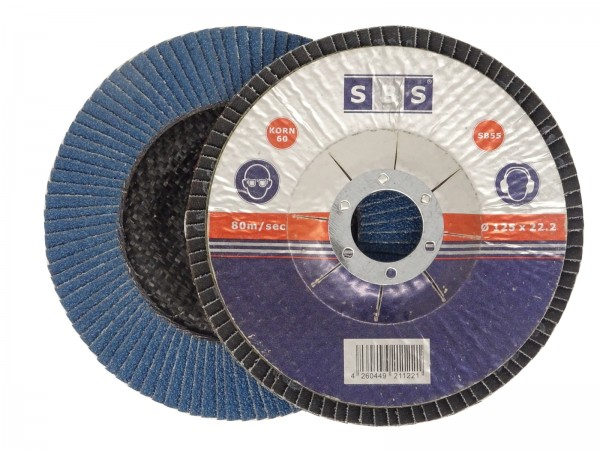 SBS® Fächerscheibe INOX Ø 125mm Korn 40 - 120 blau
