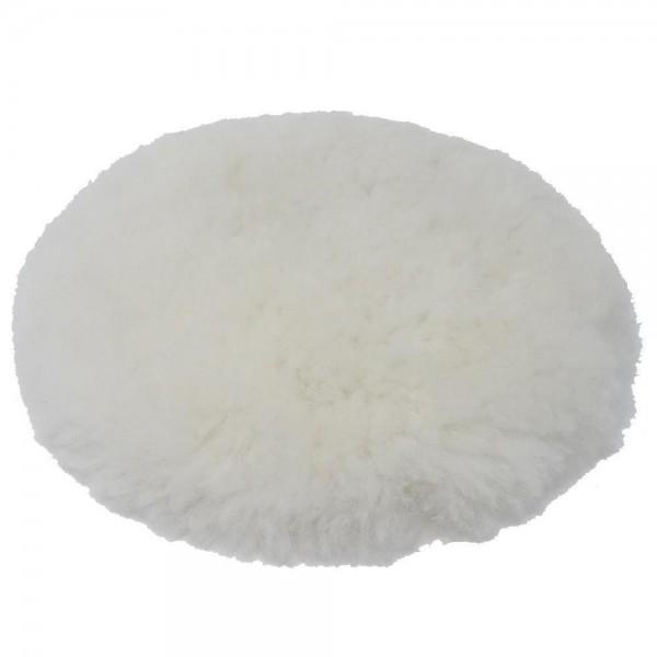 SBS® Premium Polierfell ø 150 mm mit Klettrücken Lammfell Aufsatz Polierhaube