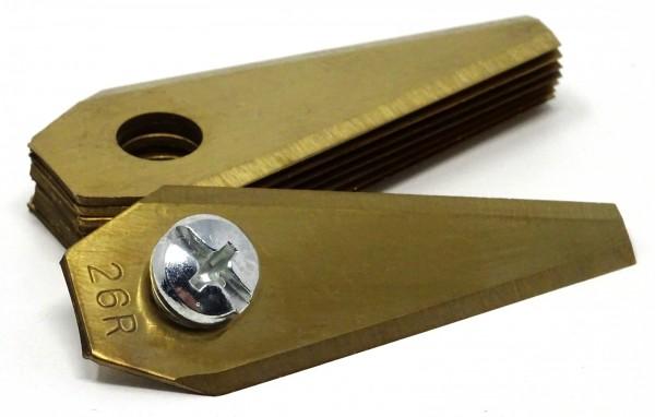 SBS® Titan Edelstahl Ersatzklingen für BOSCH® Mähroboter Indego 9 Stück mit Schraube