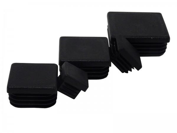 SBS Lamellenstopfen Kunststoff Vierkantrohr Rechteck Quadrat Rohr Deckel Stopfen