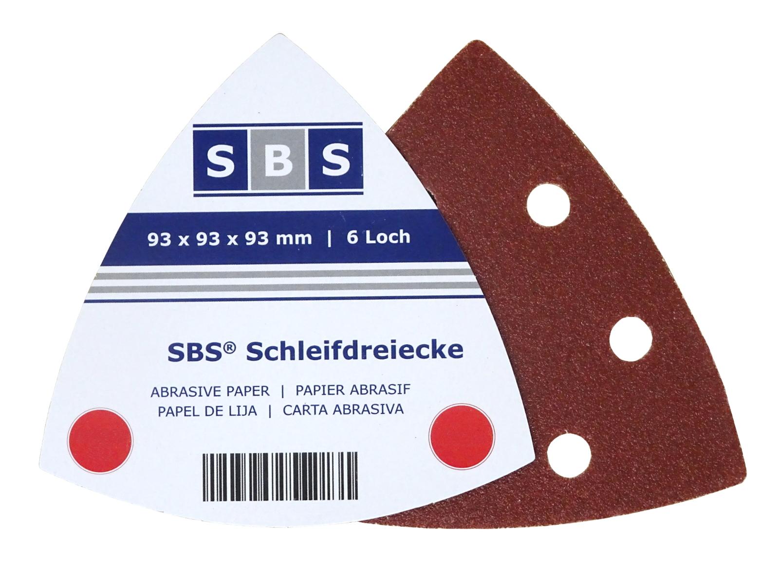 P120  Loch Schleifpapier Deltaschleifer Klett Delta Schleifdreiecke 93x93 x93