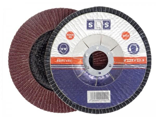 SBS® Fächerscheibe Standard Ø 125mm Korn 40 - 120 braun