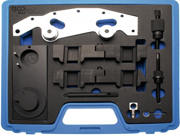 BGS 8534 Motor-Einstellwerkzeug-Satz | für BMW M52, M54, M60, M62