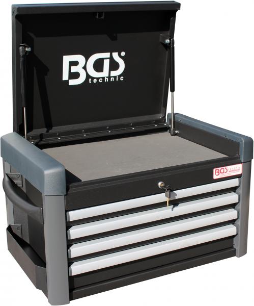 BGS 4112 Werkstattwagen-Aufsatz für Werkstattwagen PROFI | 4 Schubladen | leer