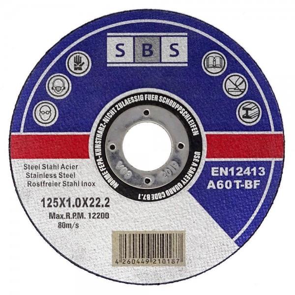 SBS® Trennscheiben Ø 125 mm für Metall und Edelstahl