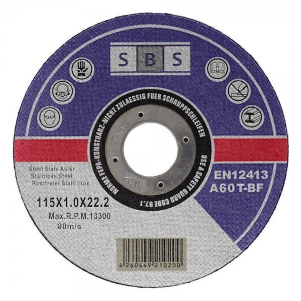 SBS® Trennscheiben Ø 115 mm für Metall und Edelstahl
