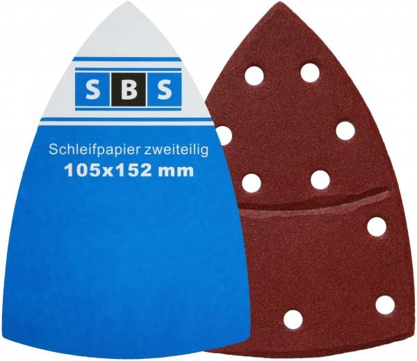 SBS® Klett-Schleifblätter 105x152mm Schleifpapier für Multischleifer Prio