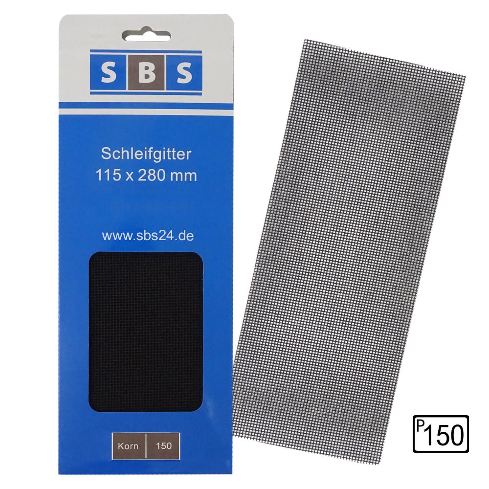 20 Stück SBS Gitterleinen 115x280mm Korn 60 Schleifgitter f Trockenbauschleifer