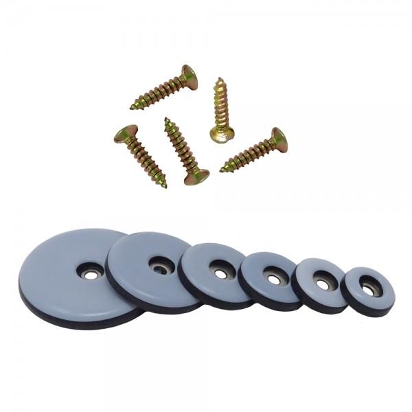 SBS® Teflongleiter zum Schrauben Ø 19 - 50mm inkl. Schraube 20 Stück