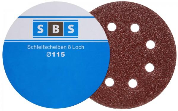 SBS® Schleifscheiben 115 mm 50 Stück verschiedene Körnungen